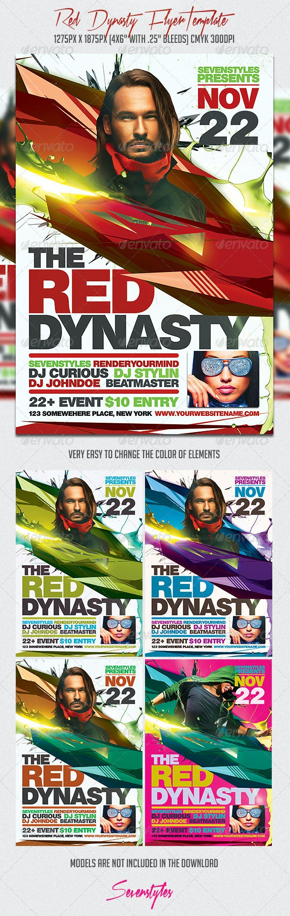 Red Dynasty Flyer Template - Flyers Print Templates