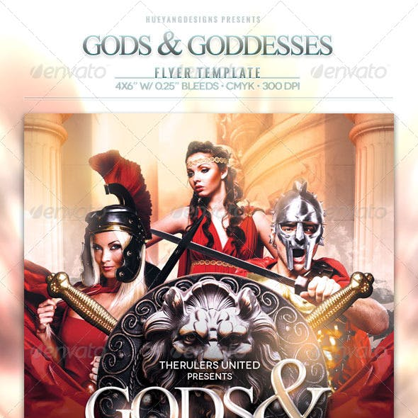 Gods And Goddesses Flyer