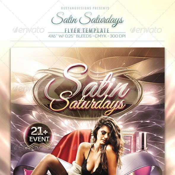 Satin Saturdays Flyer