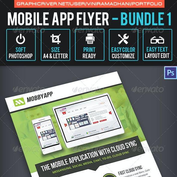 Mobile App Flyer Bundle 1