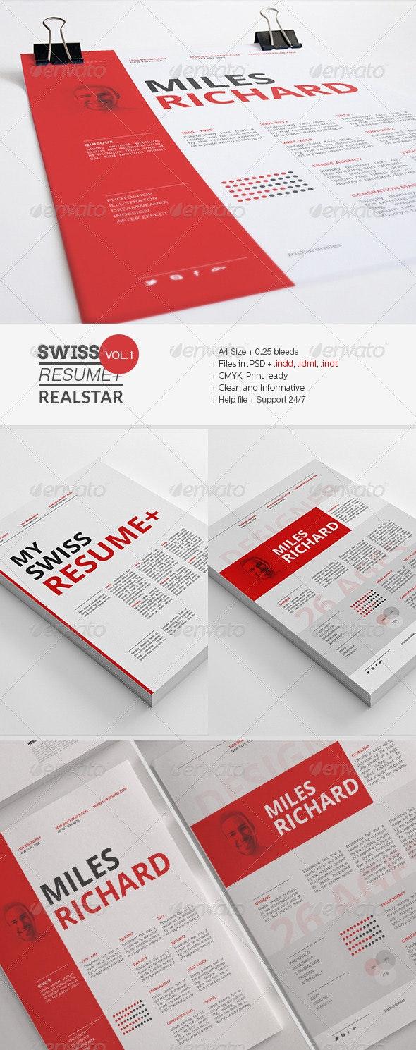 Swiss Resume+ - Resumes Stationery