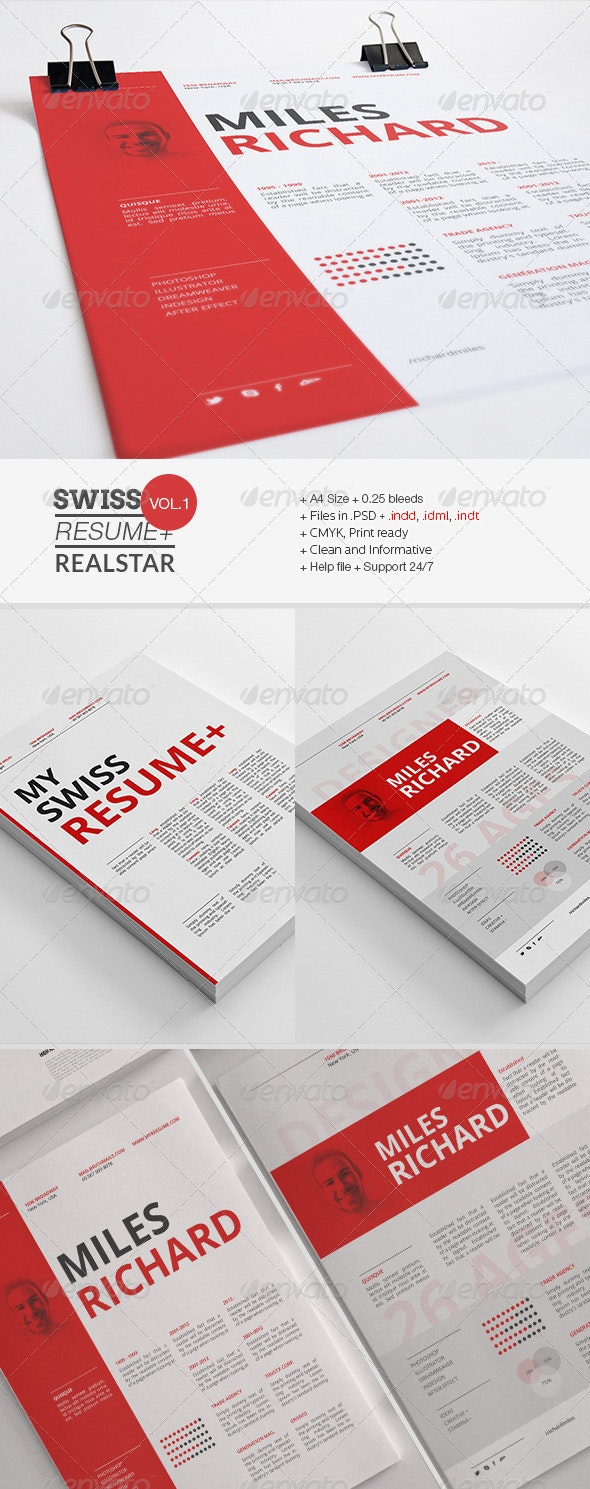Swiss Resume+ - Resumes Stationery