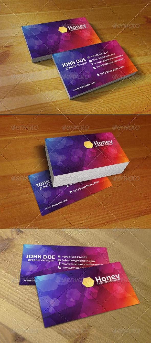 Honey Studio Business Card - Creative Business Cards