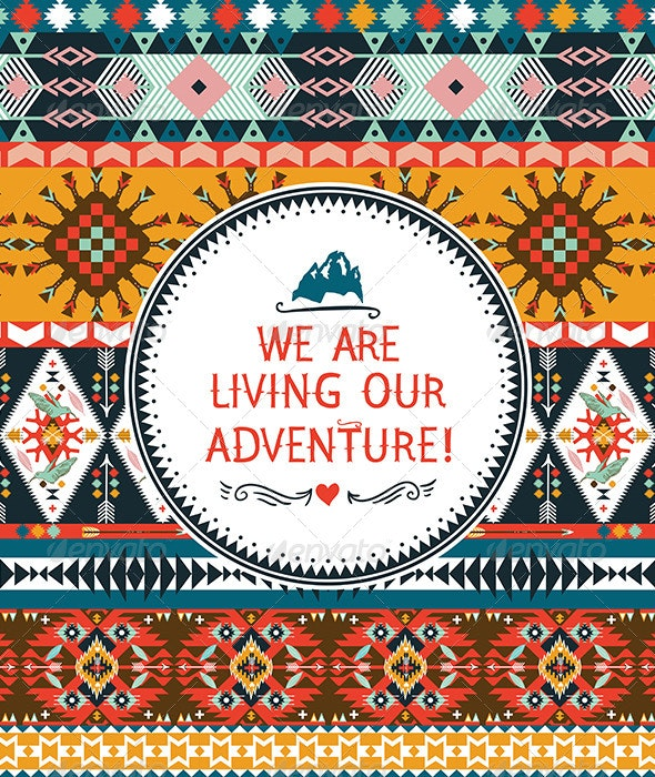 Hipster Seamless Colorful Tribal Pattern - Patterns Decorative