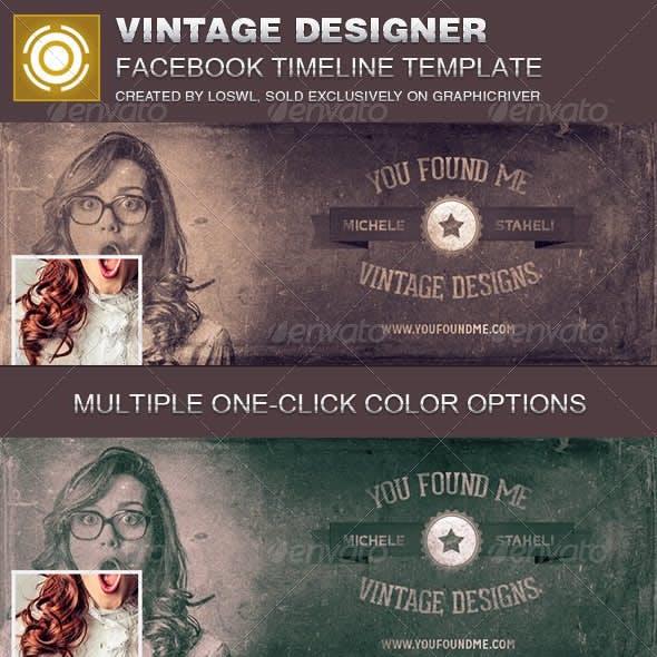 Vintage Designer Facebook Timeline Cover Template
