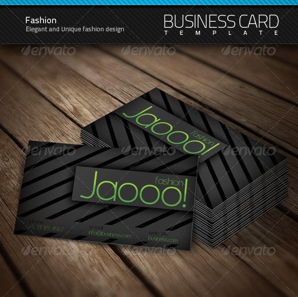 Fashion Business Card - Creative Business Cards