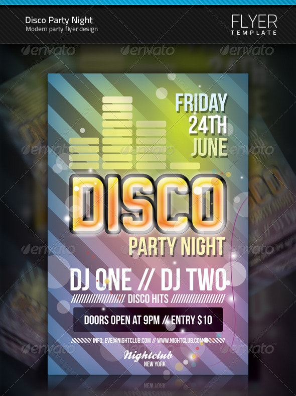 Disco Flyer - Clubs & Parties Events