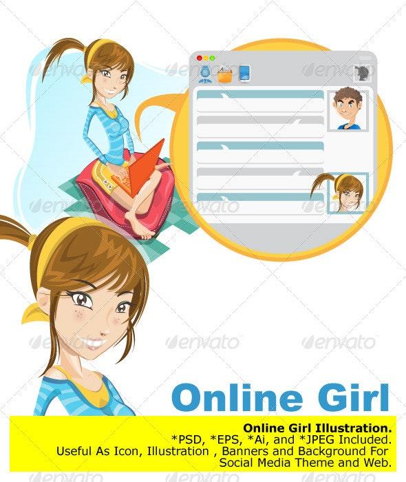 Online Social Media Girl Chatting - Communications Technology
