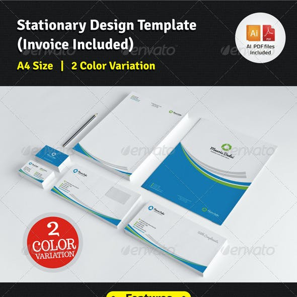 Stationary Design Template (Invoice Included)