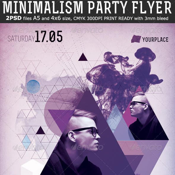 Minimalism Party Flyer Template