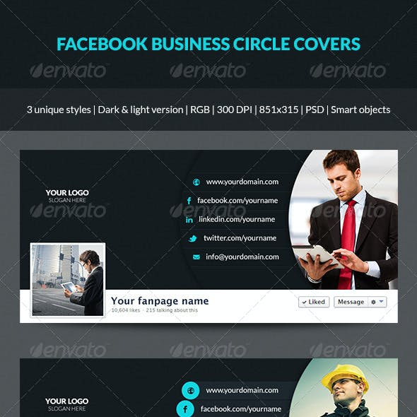 Facebook Business Circle Covers
