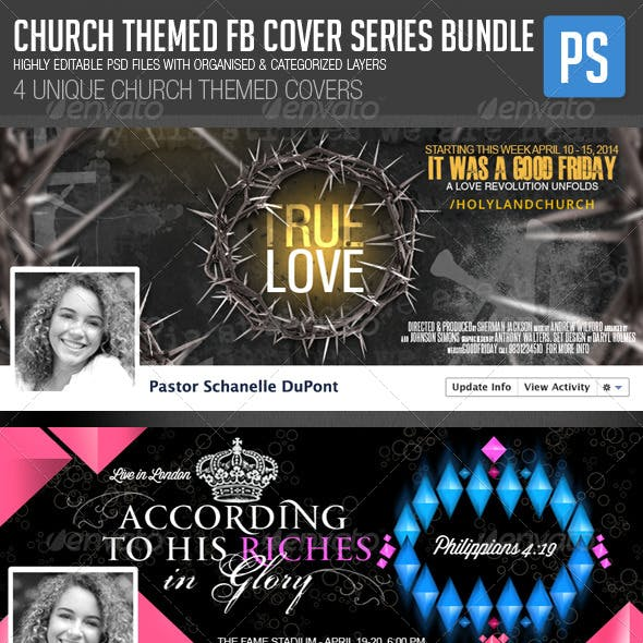 Church/Christian Themed FB Cover Bundle (4in1)