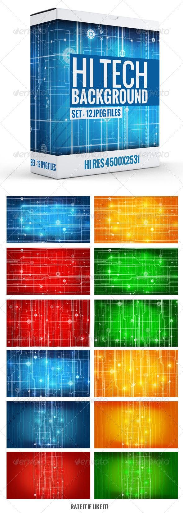 Hi-Tech Background - Tech / Futuristic Backgrounds