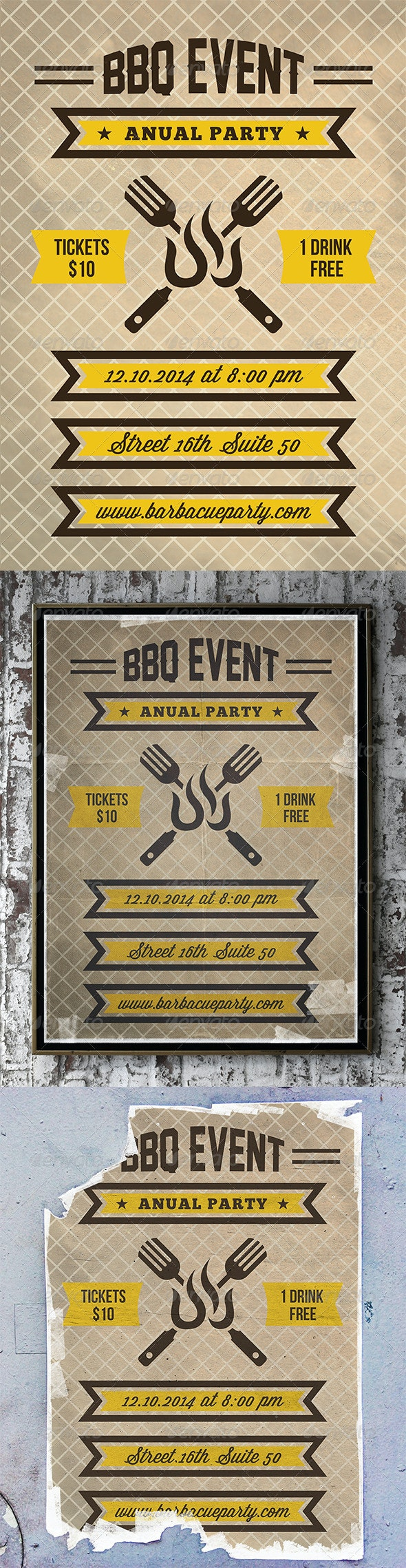 BBQ Party Flyer Poster - Events Flyers