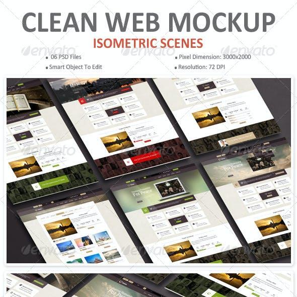 Clean Web Mockup