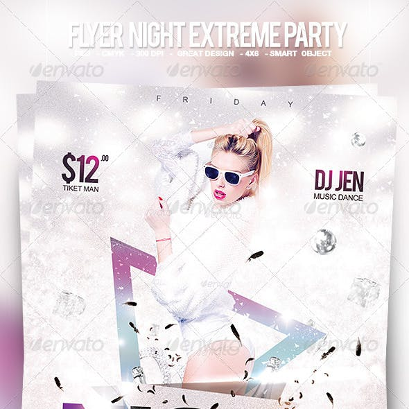 Flyer Night Extreme Party