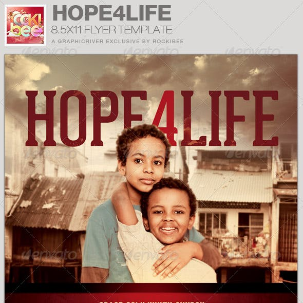 Hope4Life Charity Event Flyer Template