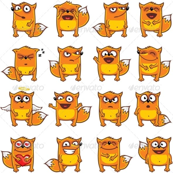 16 Smiley Foxes