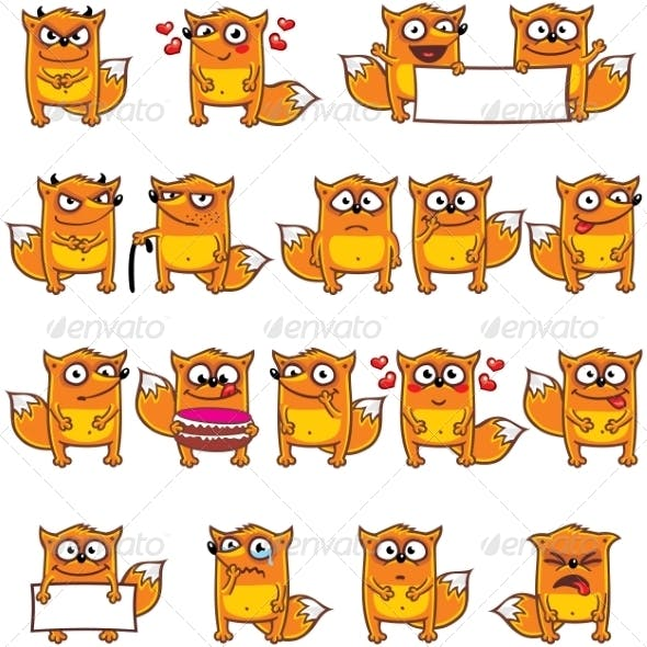 18 Smiley Foxes