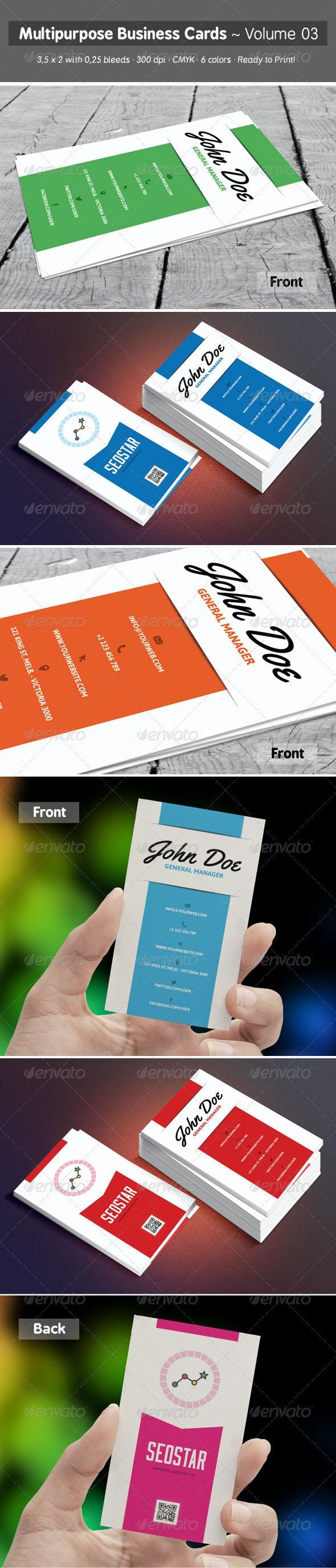 Multipurpose Business Cards - Volume 03 - Creative Business Cards