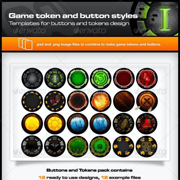 Game Token and Button Templates