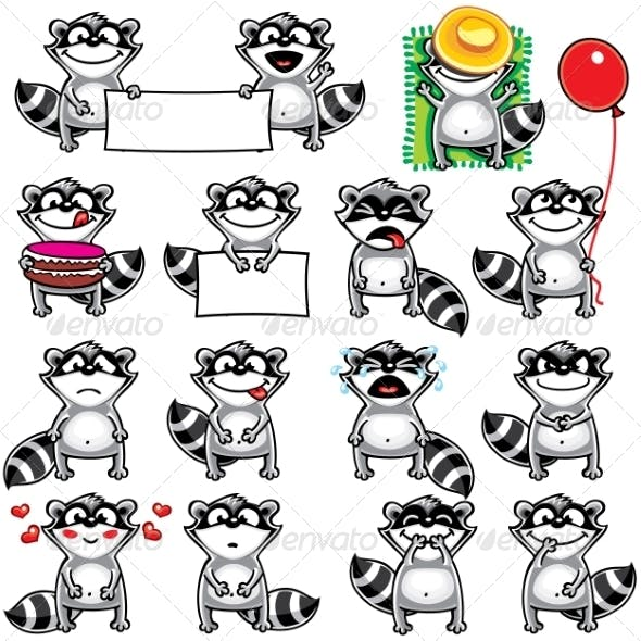 Smiley Racoons