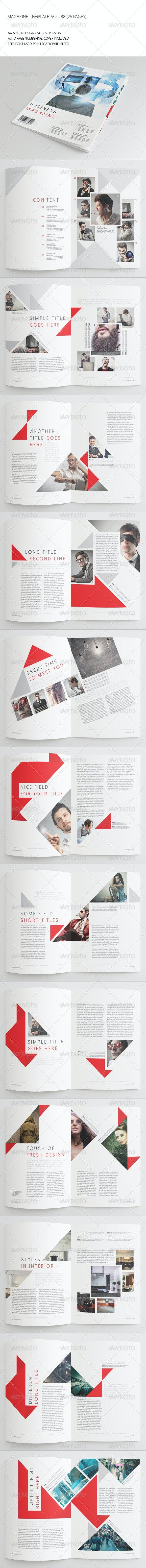25 Pages Business Magazine Vol38 - Magazines Print Templates