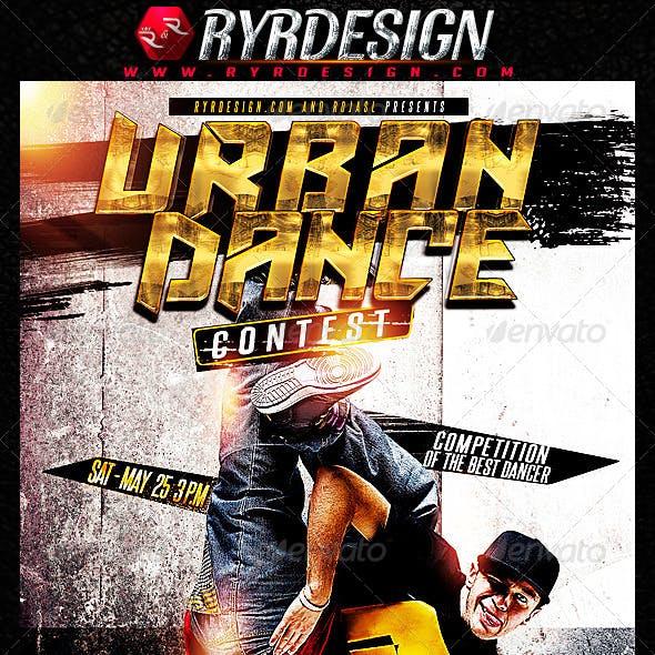 Urban Dance Contest Flyer PSD