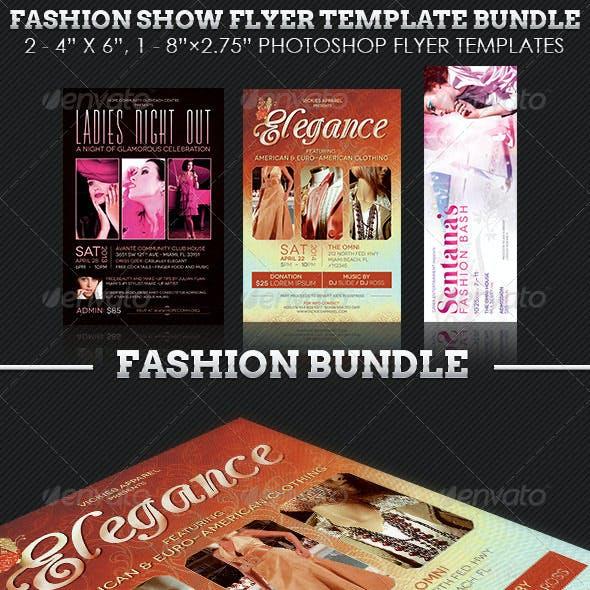 Fashion Show Flyer Template Bundle