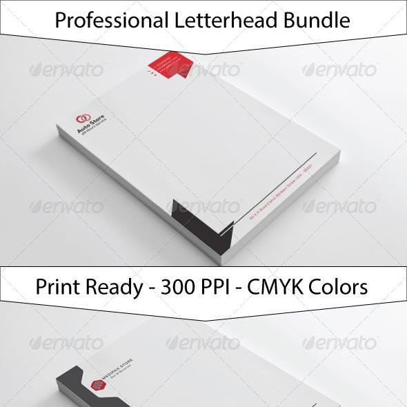 Clean Simple Letterhead Bundle