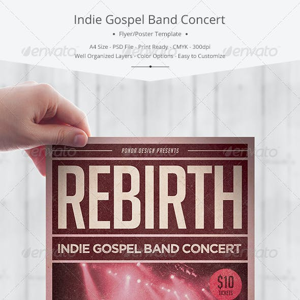 Indie Gospel Band Concert Flyer