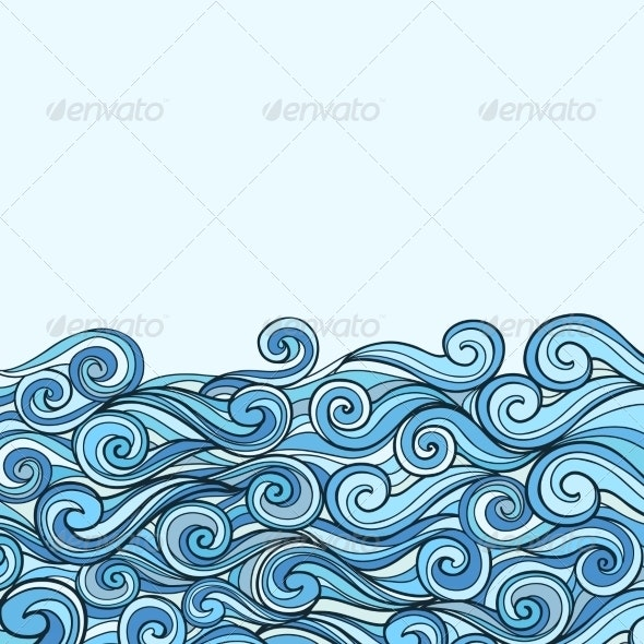 Blue Sea Wave background - Backgrounds Decorative