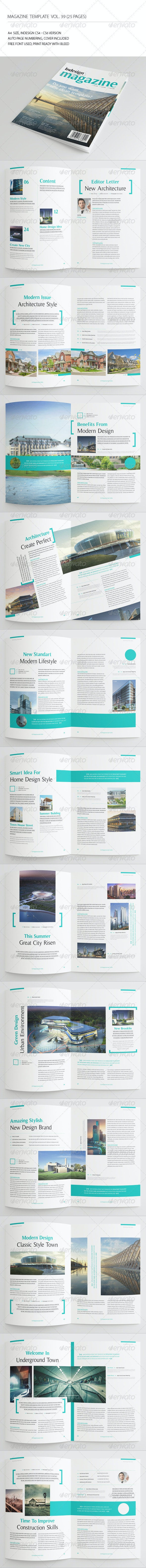 25 Pages Architecture Magazine Vol39 - Magazines Print Templates