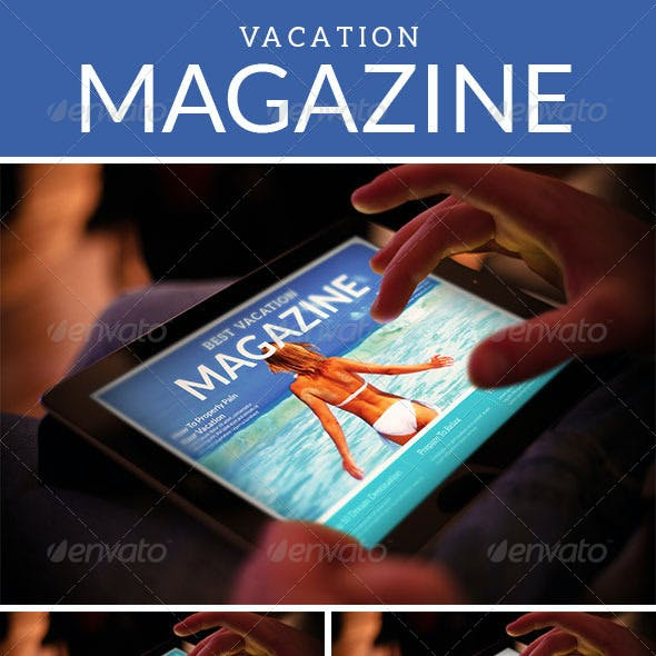 Tablet Vacation Magazine Template