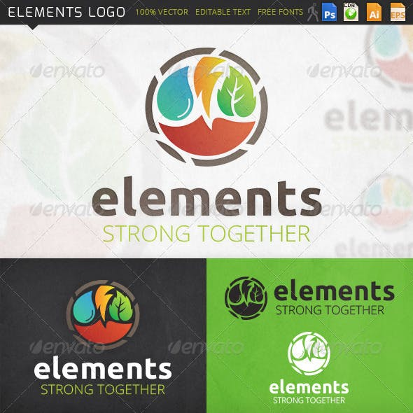 Elements Eco Nature Logo Template