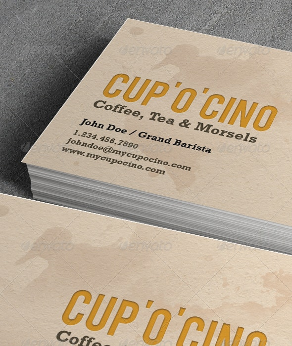 Cup-'O'-Cino Business Card - Creative Business Cards