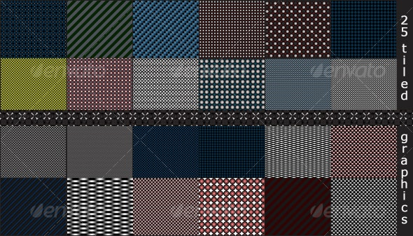25 Tiled Background Textures - Patterns Backgrounds