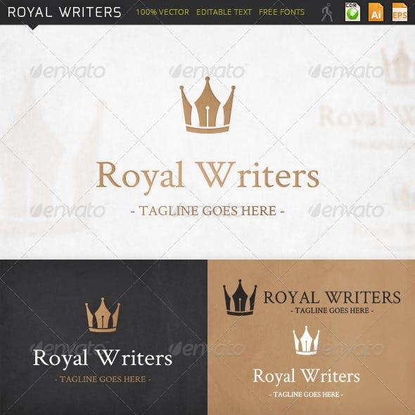 Royal Writers Copywriting Logo Template