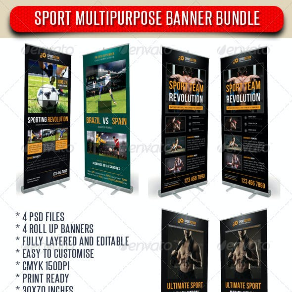 4 in 1 Sport Rollup Banner Bundle 02