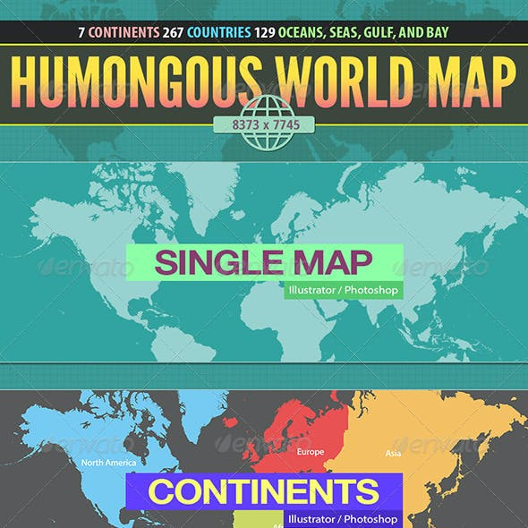 Humongous World Map