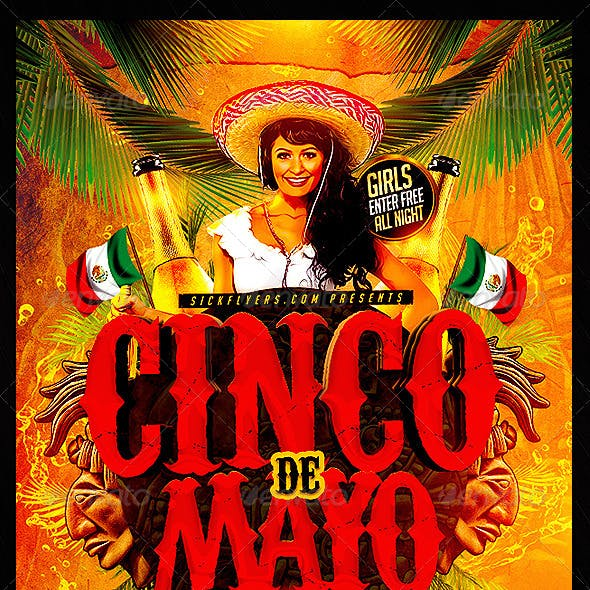 Cinco de Mayo Flyer Template PSD