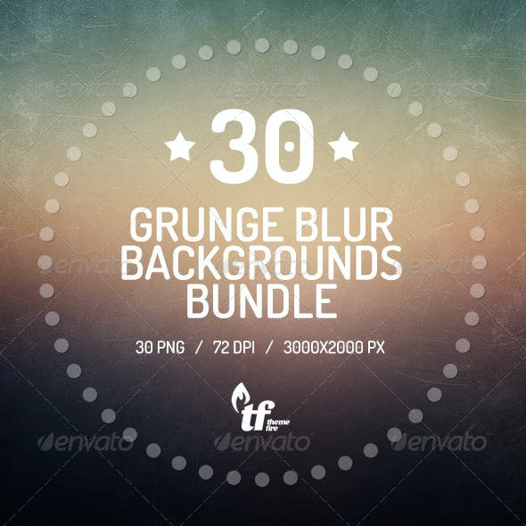 30 Grunge Blurred Backgrounds Bundle