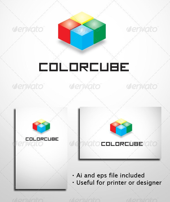 Color Cube - Objects Logo Templates