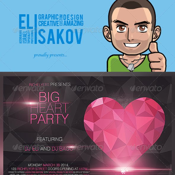 Big Heart Party - Premium Party Flyer