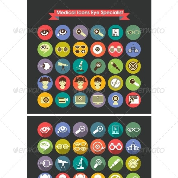 Medical Icons Eye Specialist