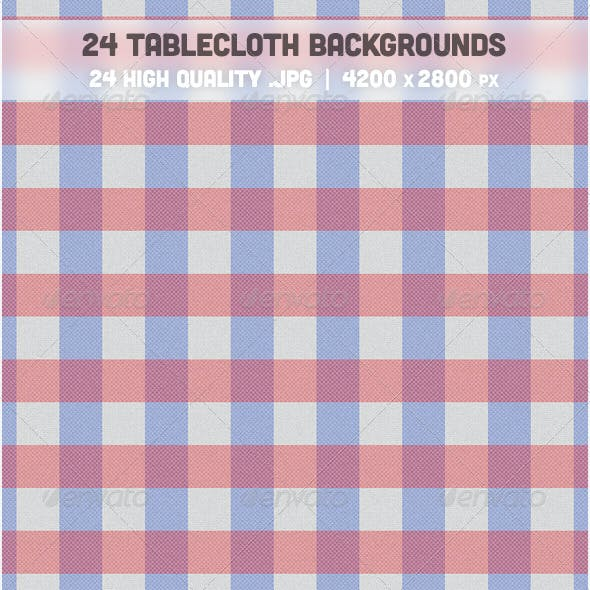 24 Tablecloth Backgrounds