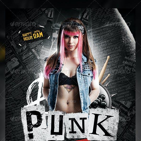 Punk Night Flyer Template