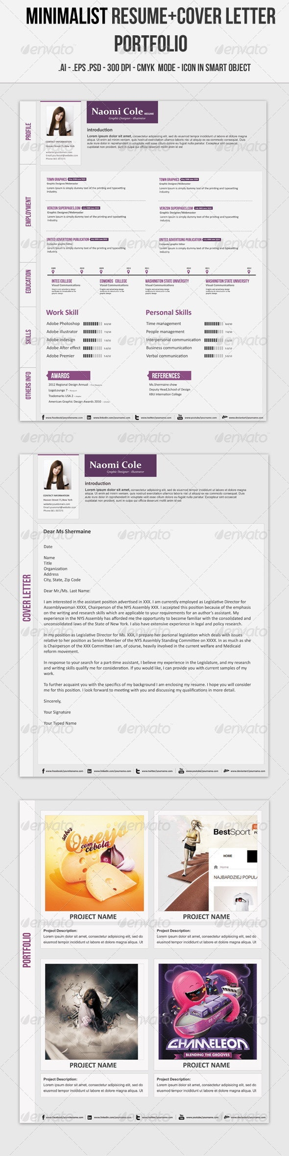 Minimalist Resume - Resumes Stationery