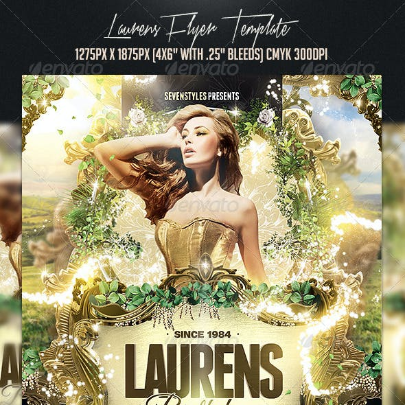 Laurens Flyer Template