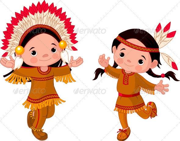 American Indians dancing  - Seasons/Holidays Conceptual